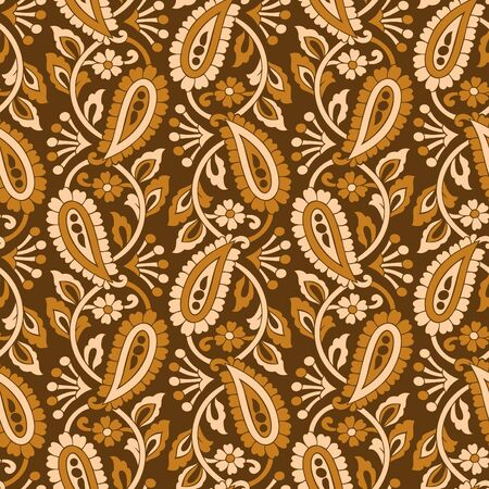 Vintage seamless vector paisley pattern