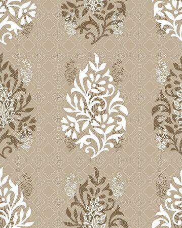 Digital seamless vintage textile floral background