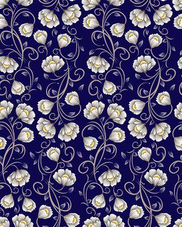Seamless cute textile floral pattern Vecteurs