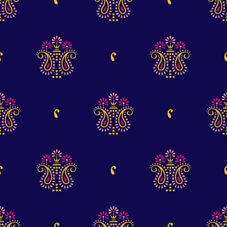 Seamless traditional indian paisley pattern