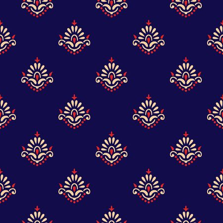 Seamless small traditional indian textile floral pattern
