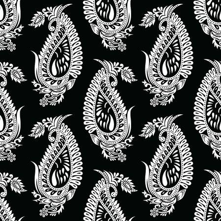 Motif cachemire traditionnel indien sans couture