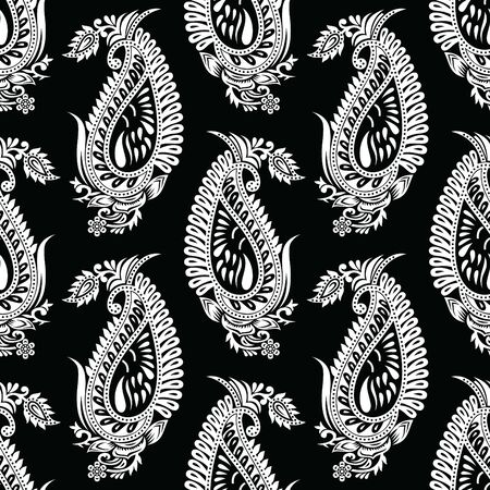 Seamless indian traditional paisley pattern  イラスト・ベクター素材