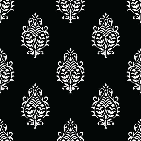 Traditional seamless indian damask wallpaper  イラスト・ベクター素材