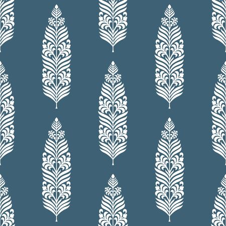 Seamless vintage textile floral pattern