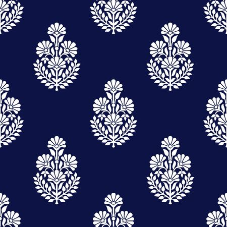 Seamless traditional indian floral pattern