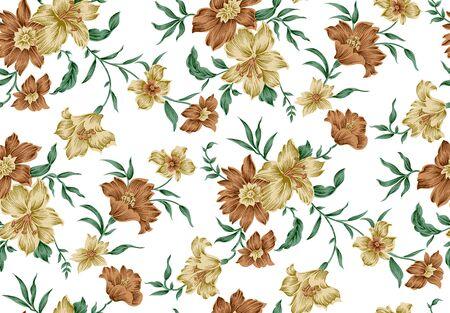 Seamless vintage textile floral pattern