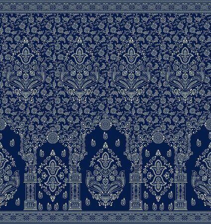 Seamless border based on traditional indian elements
