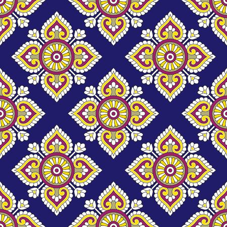 Seamless pattern based on traditional indian design elements