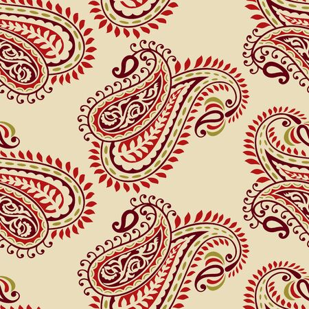 Traditional oriental seamless paisley pattern