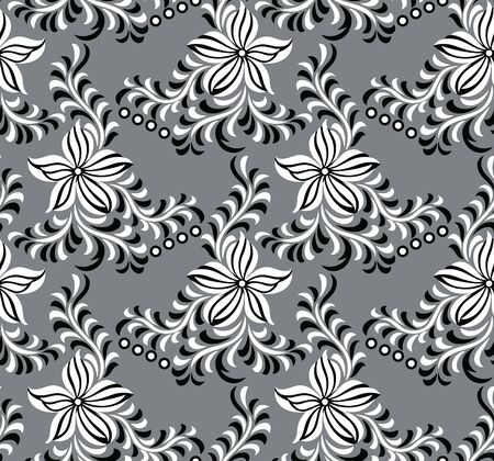 Seamless simple textile floral pattern