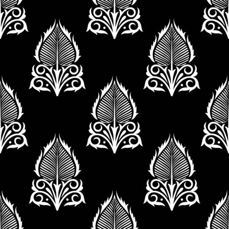 Seamless vector designer leaf pattern