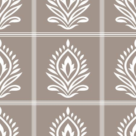Seamless vector damask wallpaper design Foto de archivo - 148812934