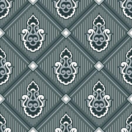 Seamless vintage damask pattern design