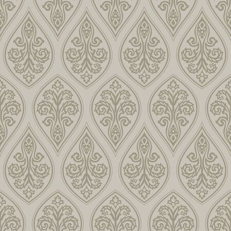Seamless vintage damask wallpaper design Foto de archivo - 149014798