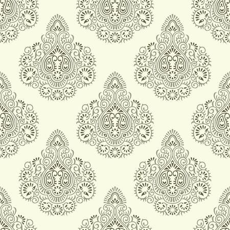 Seamless traditional Asian damask wallpaper design