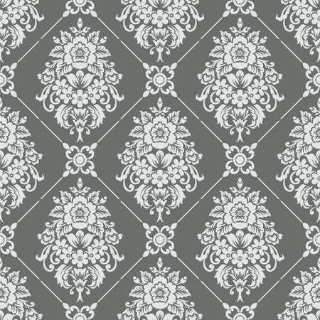 Seamless vintage damask wallpaper pattern