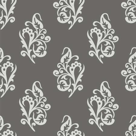 Seamless vector ornamental floral wallpaper pattern