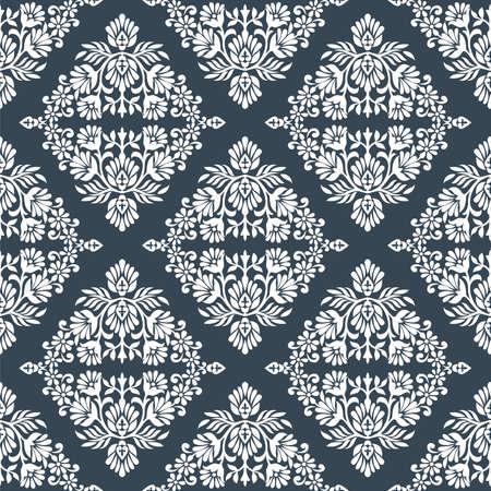 Seamless vintage damask floral wallpaper pattern