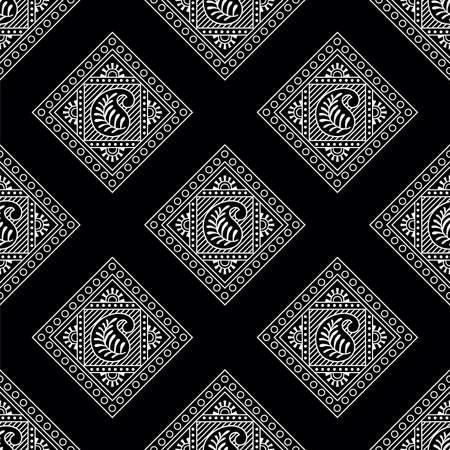 Seamless paisley damask pattern design