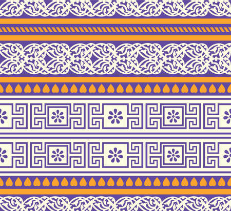 Seamless vector tribal pattern design