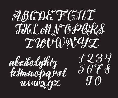 Hand drawn typeface. Vektoros illusztráció