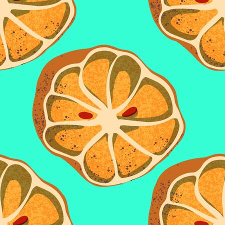 Seamless pattern of orange. Organic waste theme. Illustration for home food processing and compost, organic waste, zero waste, environmental problem Illusztráció
