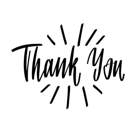 Ręcznie rysowane napis dziękuję za projekt