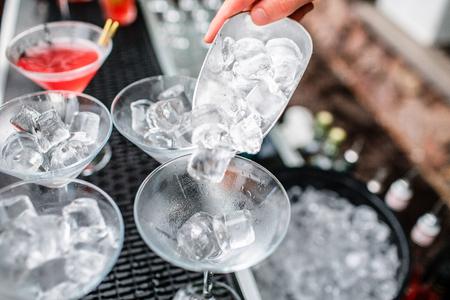 ice Tube in the bucket. club dance