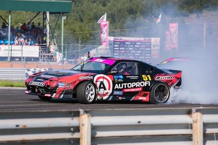 Nizhny Novgorod Russia Aug 20, 2016 : Russian Drift Series Stage 5 RDS Zapad West 2016 Alexei Chepa Golovnya. Nissan 200SX S13. Editorial