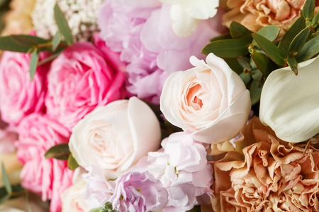 precast: empty space decorating rose and mixed flowers sweet romantic concept