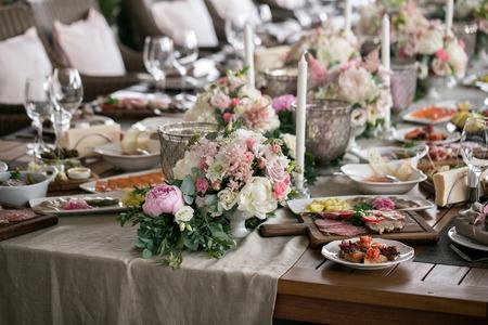 Luxury, Elegant Wedding Reception Table Arrangement, Floral ...