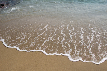 white sand: Beach sand beach background. Stock Photo