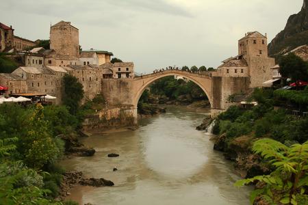 bosnia and hercegovina: Old Bridge in Mostar, Bosnia Stock Photo
