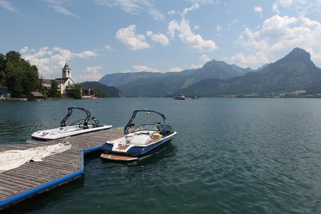wolfgang: The small tourist town St. Wolfgang on the banks of the Lake Wolfgang in Austria