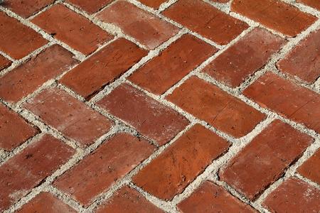 paredes de ladrillos: Ladrillo. Mampostería de ladrillo rojo. Patrón de ladrillos. Foto de archivo
