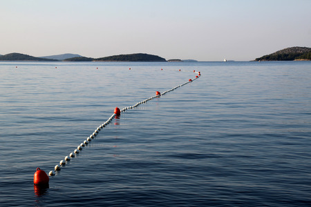 buoys: Series of buoys in the sea