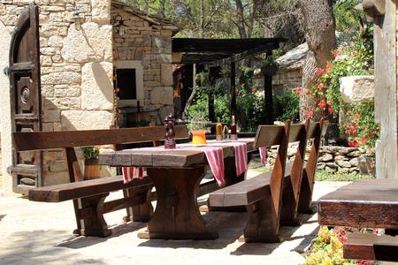ethno: Croatia. Dalmatian Ethno Village. Stock Photo