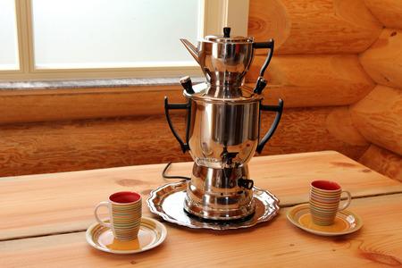 samovar: Composition with samovar Stock Photo