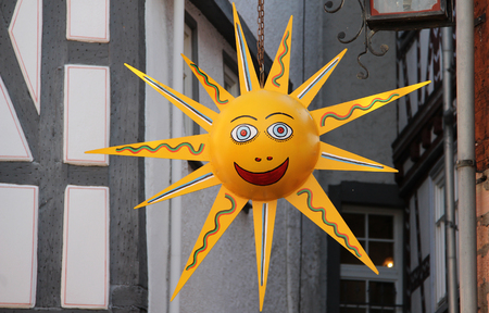 The sun is smiling Stock Photo