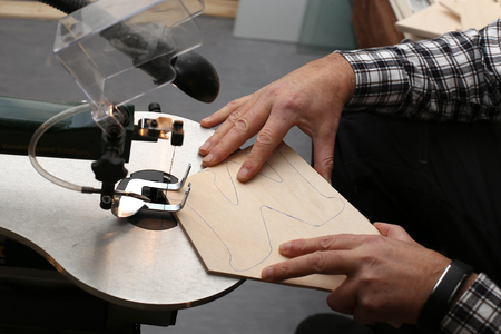 sawing: Hobbies  Sawing electric jigsaw Plywood