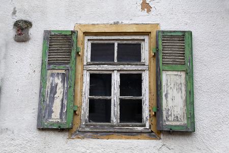 Oud raam Stockfoto