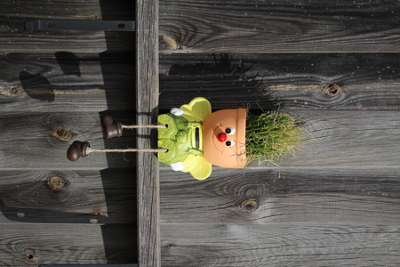 Decorative flowerpot in the form of a little man