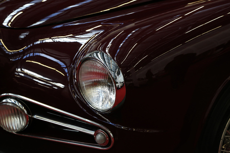 Car. Details.  Part of an old car close up