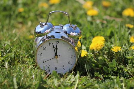 analogous: Alarm Clock  Composition with old alarm clock Stock Photo