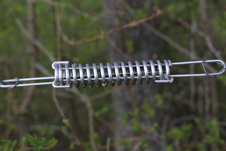 Spring  Tension spring on electric fence