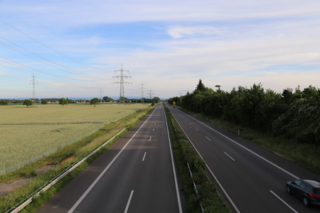 Empty highway  high-speed road in Germany