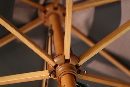 Umbrella construction  Parasol  Details.