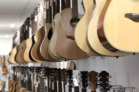 Saiteninstrumente  Gitarren  verschiedene Gitarren Lizenzfreie Bilder