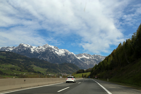 Motorway in the Alps (Austria)
